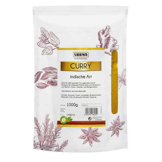 Curry Indisch 1000g Ubena