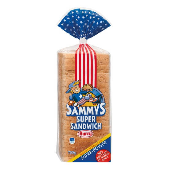 Sammys Vollkorn Sandwich Toast 750g Harry