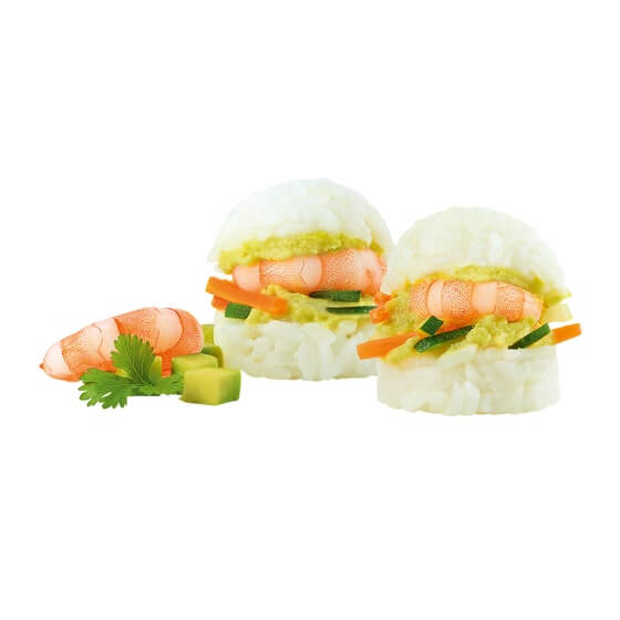 Asia Slider Shrimp Avocado TK 1,2Kg 40 Stück  Salomon