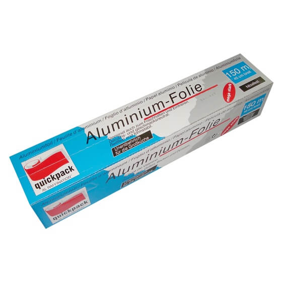 Alufolie mega Großrolle/Box 0,45x150m 18my Quickpack