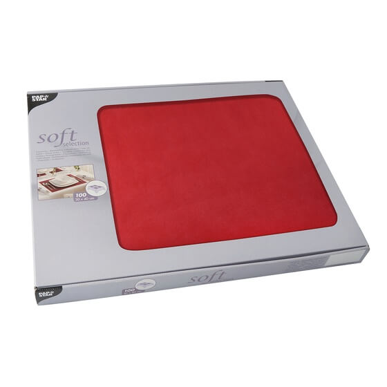 Tischsets soft selection plus rot 30x40cm 100St. PS